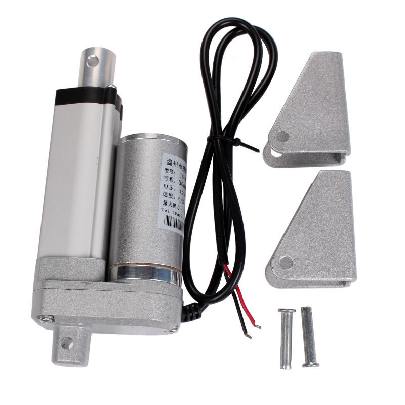 Free shipping Electric Linear Actuator 12v DC Motor 50mm Stroke Linear Motion Controller 4mm/s 1500N Heavy Duty 10inch 250mm stroke 12v dc electric linear actuator 4 27mm s 150kg load 12 36v dc 1500n heavy duty tubular electric motor 24v