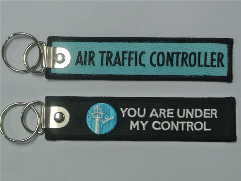 Air Traffic Controller You Are Under My Control Aviation Embroidered Key Chain Keyrings