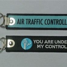 Авиадиспетчерский контроль, вы под моим контролем, авиационный вышитый брелок для ключей