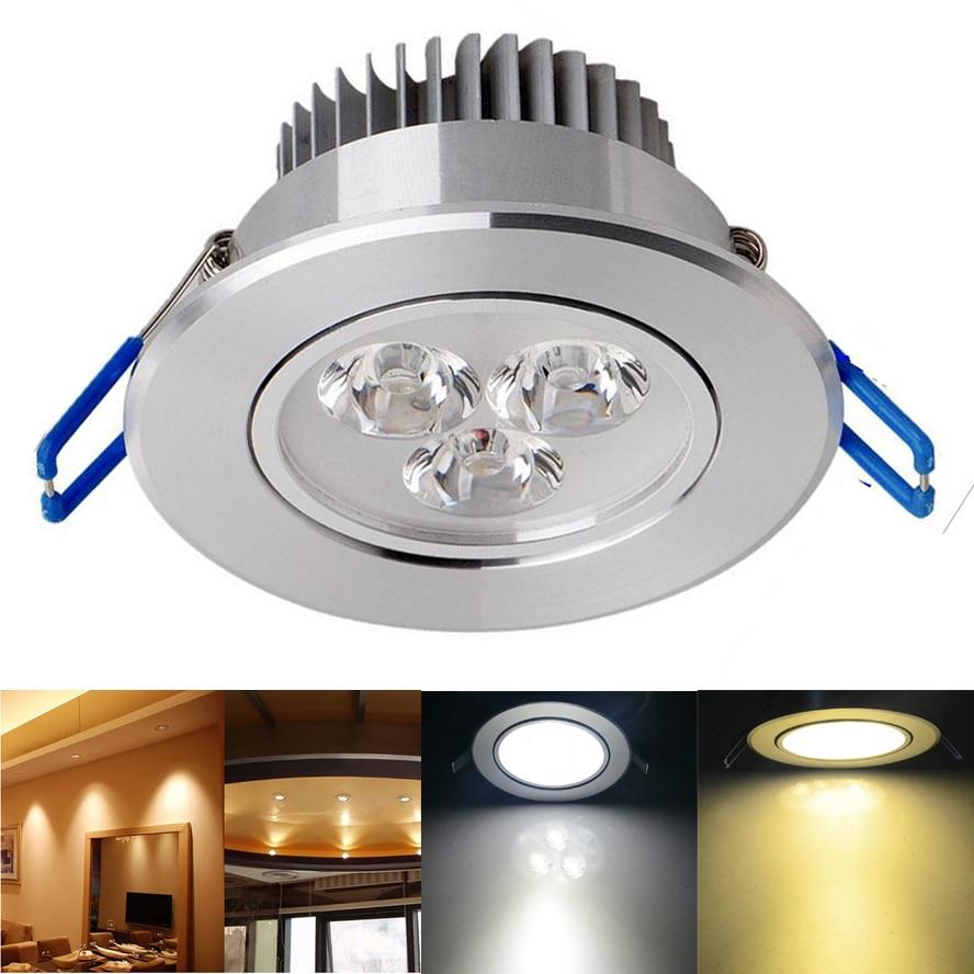 4 шт./лот 3 Вт 5 Вт 7 Вт светодиодные светильники встраиваемые потолочные Панель светлое пятно лампы + Драйвер для внутреннего освещения
