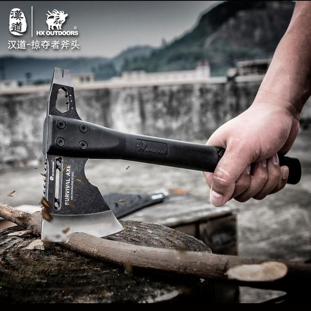 HX OUTDOORS FT-05A outdoor engineer axe, multi-function self-defense survival axe, tactical axe High hardness sharp