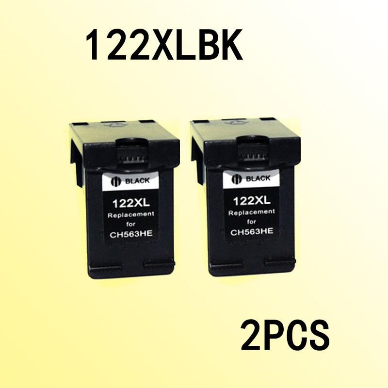 2 картриджи с черными чернилами, совместимые с 122 122xl DeskJet 1050/2050/2050s/D1010/1510/2540/4500