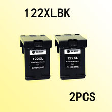 2x cartuchos de tinta preta compatível for122 compatível para 122 122xl deskjet 1050/2050/2050s/d1010/1510/2540/4500