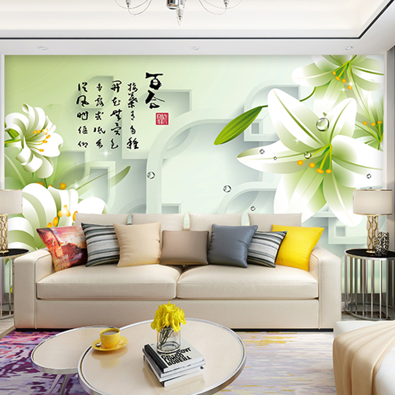 3d Photo Wallpaper painting bedroom living room TV wall painting wall mural waterproof environment friendly textile wallpaper pink romantic sakura reflection large mural wallpaper living room bedroom wallpaper painting tv backdrop 3d wallpaper