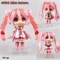 """Frete grátis bonito 4 """" Nendoroid Vocaloid Hatsune Miku Sakura Miku 10 cm PVC Action Figure coleção Toy modelo em caixa 500"""