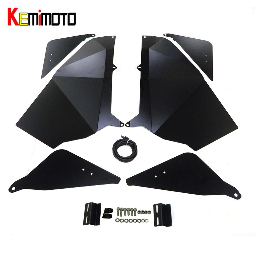 KEMiMOTO UTV Lower Door Panel Inserts For Polaris RZR 900 XC RZR-S 900 RZR-S 1000 2015 2016 2017