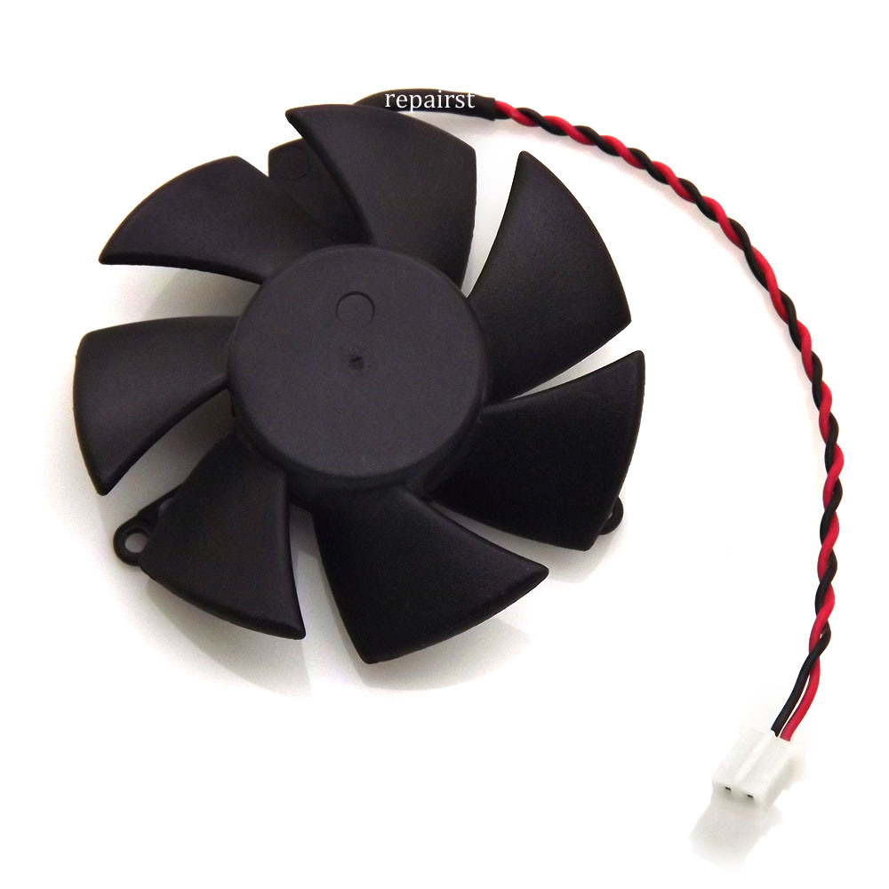 Diameter 45mm 0.1A 2pin N 720 GPU VGA cooler graphics Card cooling Fan For MSI N720 1gd3lp/2gd3lp Cooling 2pcs computer vga gpu cooler fans dual rx580 graphics card fan for asus dual rx580 4g 8g asic bitcoin miner video cards cooling