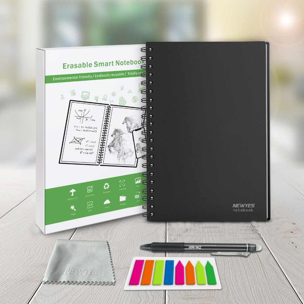NeWYeS A6 Smart Herbruikbare Notebook Uitwisbare Magnetron Verwarming Waterdichte Cloud Storage App Verbinding Kids Gift Draad Gebonden Spiraal