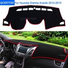 Car Styling Dashboard Protective Mat Shade Cushion Photo phobism Pad Interior Carpet For Hyundai Elantra Avante 2012-2015