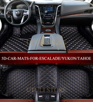 Leather Car floor mats for Cadillac ESCALADE_YUKON_Tahoe_z71_Suburban custom fit car styling all weather carpet floor mat