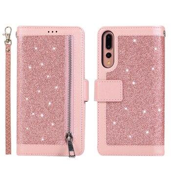 Wallet Glitter Leather Huawei P30 Case 1