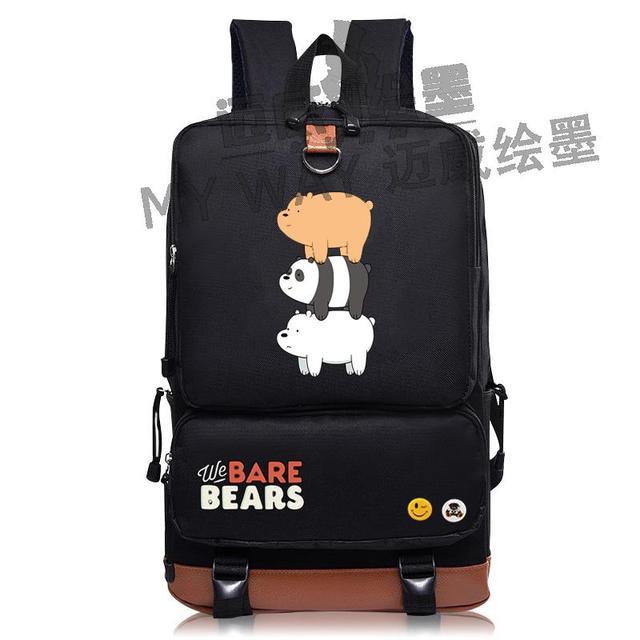 841c0ef031d NIEUWE mode Cartoon mooie We Blote Bears rugzak Mannen schooltas vrouwen  schouder reistas Student Laptop Tassen