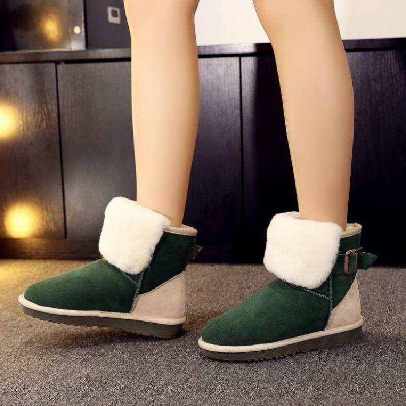 ankle boots for women snow boots winter boots women fur short boots colorful ladies booties shoes woman free shipping &x53
