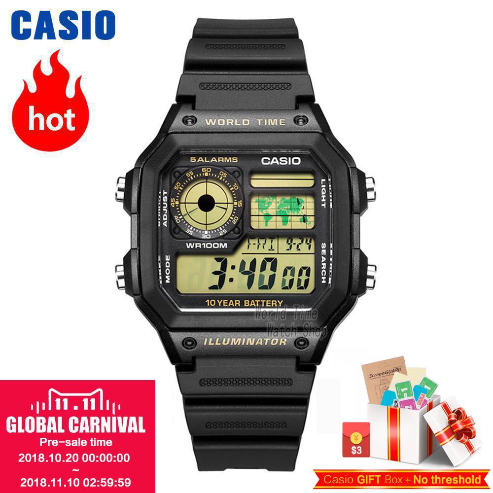 Casio Watch Waterproof Leisure Sports Men's Watch AE-1200WHD-1A AE-1200WHB-1B AE-1200WHB-3B AE-1300WH-1A AE-1300WH-4A AE1300WH8