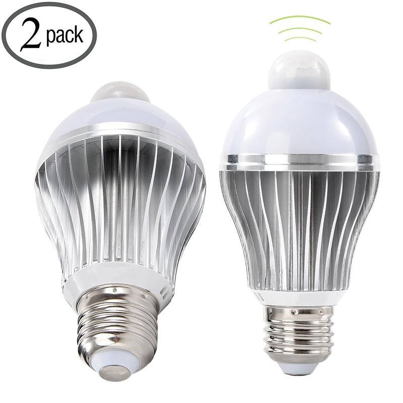 E26 5w Led Motion Sensor Light Bulb Pir Infrared Detection White Indoor Outdoor Lamp For Porch Hallway Attic Garage In Bulbs S From