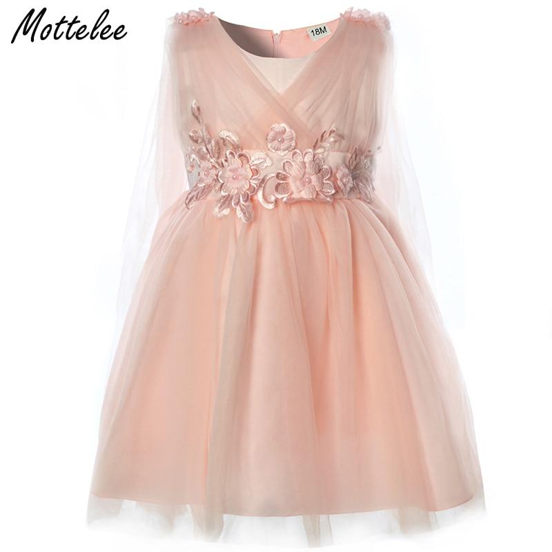 985f3d39d1223 US $24.12 |Aliexpress.com : Buy Mottelee Baby Girls Dress Christening  Toddler Birthday Party Dresses Summer Flower Infant Prom Dress Fashion Kids  ...