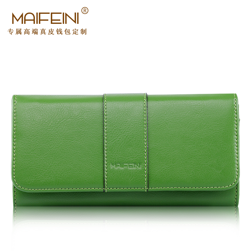 MAIFEINI High Quality Genuine Leather New Women's purse European and American Style Fashion Leisure Simple Clutch Wallet dollar price new european and american ultra thin leather purse large zip clutch oil wax leather wallet portefeuille femme cuir