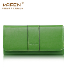 MAIFEINI High Quality Genuine Leather New Women's purse European and American Style Fashion Leisure Simple Clutch Wallet