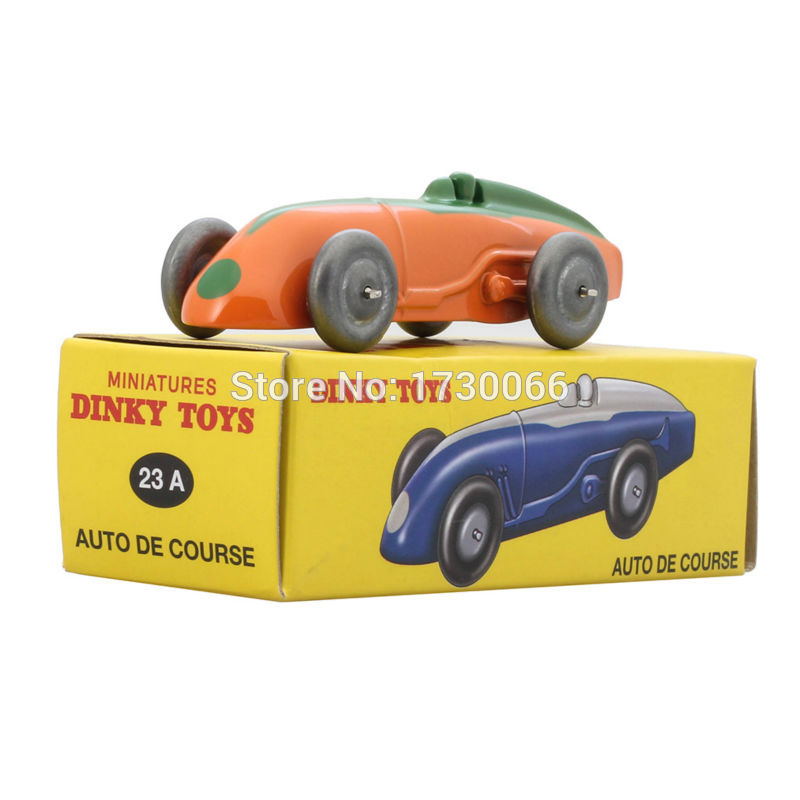 Lodra Dinky Diacast Atlas Antique Model 1:43 MINIATURES 23A makinë portokalli AUTO DE COURSE Alloy Diecast Model makine & Model lodër