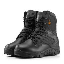 Зимние Для мужчин Армейские сапоги высокие тактические Desert Combat Сапоги и ботинки для девочек прочные армейские ботинки модные туфли в камуфляжном стиле