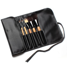15 pcs Soft Synthetic Hair make up tools kit Sets with Leather Case