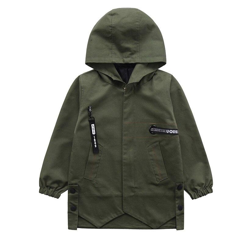 21018 новая весна пальто для мальчиков новая модная Хлопчатобумажная Куртка для мальчиков повседневные длинные плащ высокого качества куртк...