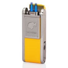 COHIBA Metal Cigar Lighter 2 Jet Flame Gas Cigarette Pocket Accessories with Punch