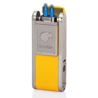 Encendedor de puros COHIBA  encendedor de cigarrillos de 2 llamas con bolsillo  accesorios para cigarros con punzón para puros Accesorios para cigarrillos Hogar y jardín -