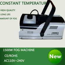 цена на High quality 1500W constant temperature fog machine pump disco  remote control  smoke machine stage Lampblack machine