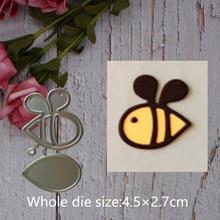 Cartoon bee Metal steel frames Cutting Dies DIY Scrap booking Photo Album Embossing paper Cards4.5*2.7cm