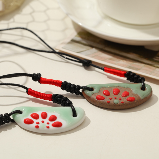 Ceramic Necklace Pendants Jingdezhen  National Trend For Lovers New 2013 Fashion Vintage Jewelry Accessories Wholesale