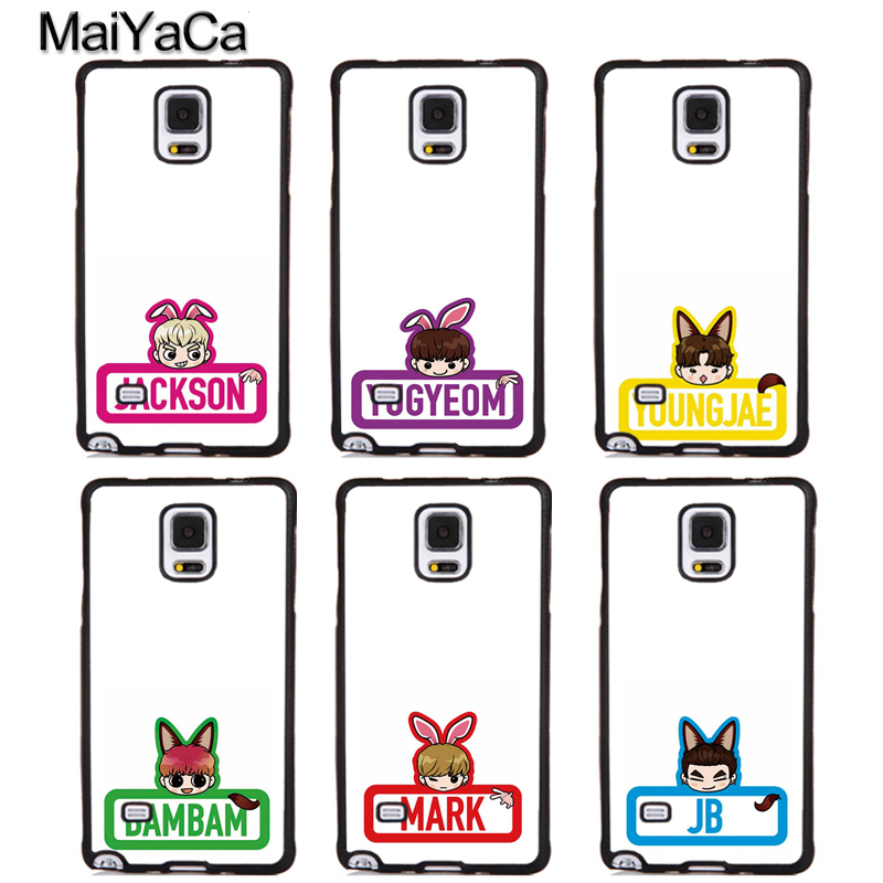 MaiYaCa KPOP GOT7 cartoon Full Protective Phone Cases For Samsung Galaxy S5 S6 S7 edge Plus S8 S9 plus Note 4 5 8 Cover Shell