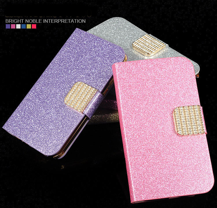 Flip Leather Phone Case For <font><b>Homtom</b></font> HT27 <font><b>HT</b></font> <font><b>27</b></font> 5.5 inch Case Cover Girly Bling Wallet Card Holster Housing HT27 Phone Shell Bags image