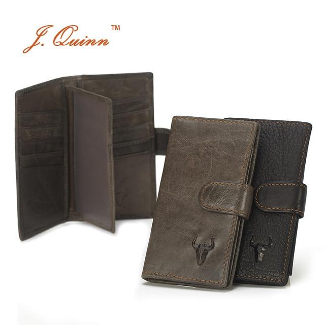 J.Quinn Business 17 Credit Card Holders Genuine Leather Women Men ID Mini Wallets CardHolder Wallet Purse Pouch Case for man