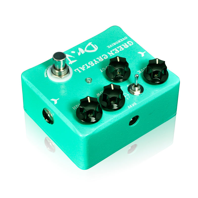 Купить с кэшбэком JOYO Dr. J D50 Green Crystal Overdrive Electric Guitar Effect Pedal Hand Made Overdrive efeito True Bypass design Free Shipping