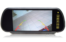 Бесплатная доставка 7 дюймов зеркало заднего вида монитор для резервная копия камеры ЖК-дисплей Парковочные системы камера заднего вида с RC