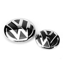 150MM OEM Chrome Front Radiator Grille Emblem +112mm Rear Trunk Lid Auto Logo Badge for VW Volkswagen CC 35D 853 601 A-2