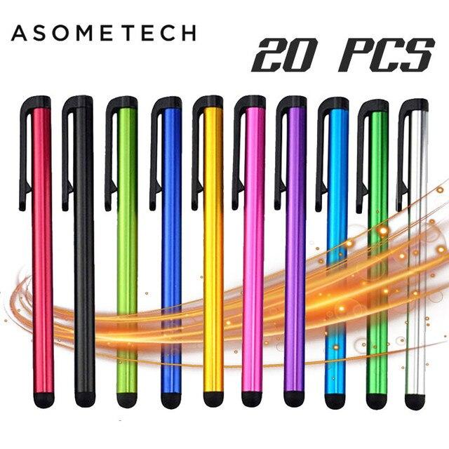 20 шт./лот емкостный сенсорный экран Стилус для IPad Air Mini для samsung xiaomi iphone Универсальный планшетный ПК смартфон карандаш
