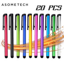 20 pçs/lote Capacitive Touch Screen Stylus Pen Para IPad Air Mini Para Samsung xiaomi iphone Universal Tablet PC Telefone Inteligente lápis(China)
