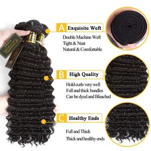 Image 5 - QT 髪ウェットと波状バンドル閉鎖でバンドル閉鎖ブラジル人毛織りで 3 バンドル閉鎖