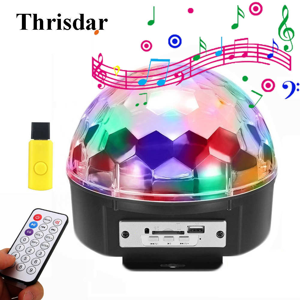 Thrisdar MP3 Music Crystal Magic Ball LED Stage Lamp Disco DJ Party Stage Effect Light MP3 Sound Actived LED Stage Laser LightThrisdar MP3 Music Crystal Magic Ball LED Stage Lamp Disco DJ Party Stage Effect Light MP3 Sound Actived LED Stage Laser Light