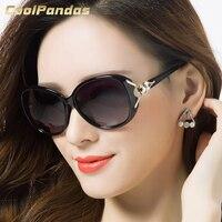 2019 neue Mode Übergroßen Fuchs Rahmen Polarisierte Sonnenbrille Frauen Marke Designer Fahren Sonnenbrille UV400 Dame Geschenk Oculos de sol-in Sonnenbrillen aus Kleidungaccessoires bei