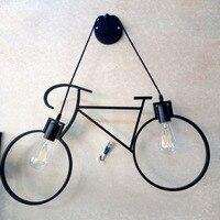북유럽 창조적 인 성격 레스토랑 바 테이블 어린이 방 통로 자전거 벽 램프