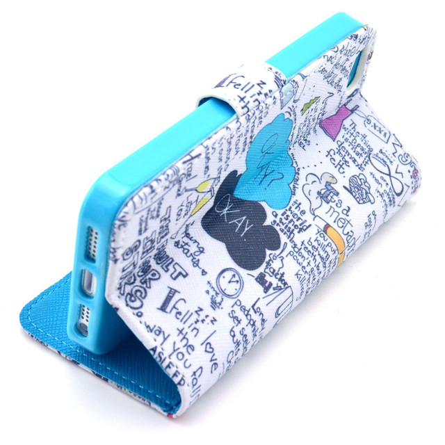 1PCS For iPhone4 iPhone 4 4S Luxury Painting PU Leather Case