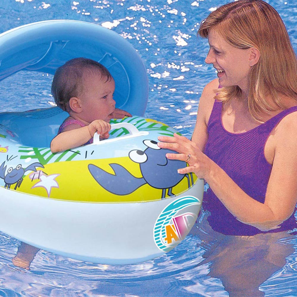 2017 Float Seat Boat Baby Ring Pool Swim Inflatable Swimming Safe Raft Kid Water Car 77