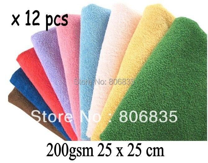Adaptable 200gsm 25x25 Cm Paño De Limpieza De Microfibra Limpia Trapos De Microfibra Pantalla De La Lente Gafas De Cámara Toalla Productos De Limpieza Doméstica 50% Rebajado