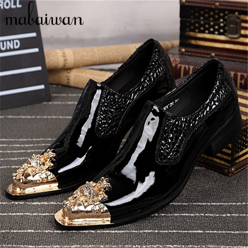 Fashion Shoes Men Leather Shoes Luxury Black Pointed Toe Horsehair Mens Oxfords Wedding Dress Party Slip On Shoes Zapatos Hombre men fashion oxfords pointed toe retro
