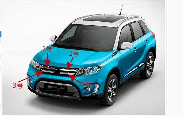 Fur Suzuki Vitara 2015 2017 ABS Chromzier Chrom Styling Auto Vorderen Grill Grid Abdeckungen Aussendekoration