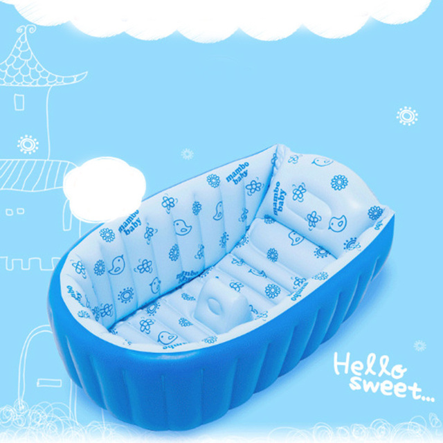 Portable Inflatable Baby Bath Kids Infant Bathtub Shower ...