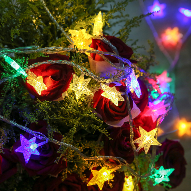 5m 28led twinkle star party fairy lights birthday wedding light decoration shop cafe kids room christmas decorations home decor in holiday lighting from